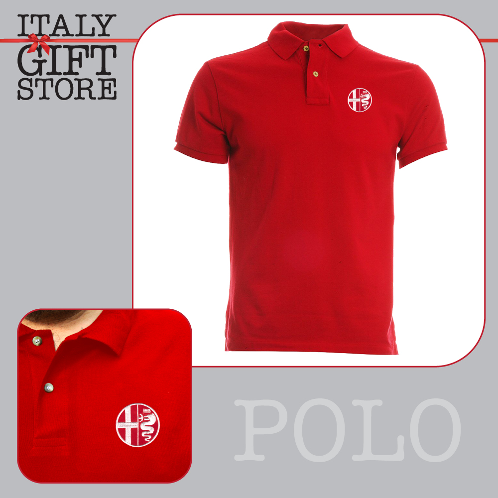 Snap Alfa Romeo Logo Embroidered On Polo Shirt Ebay Photos Pinterest Sweatshirt T Red Ricamo Embroidery Patch